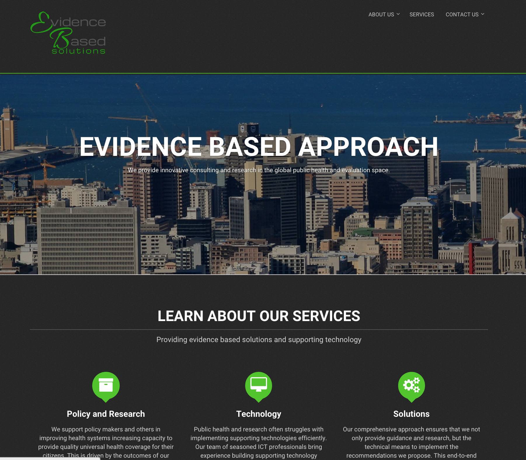 Evidence Based Solutions – Corporate Web Design