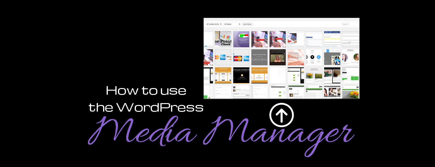 Video : How to use the media manager in WordPress