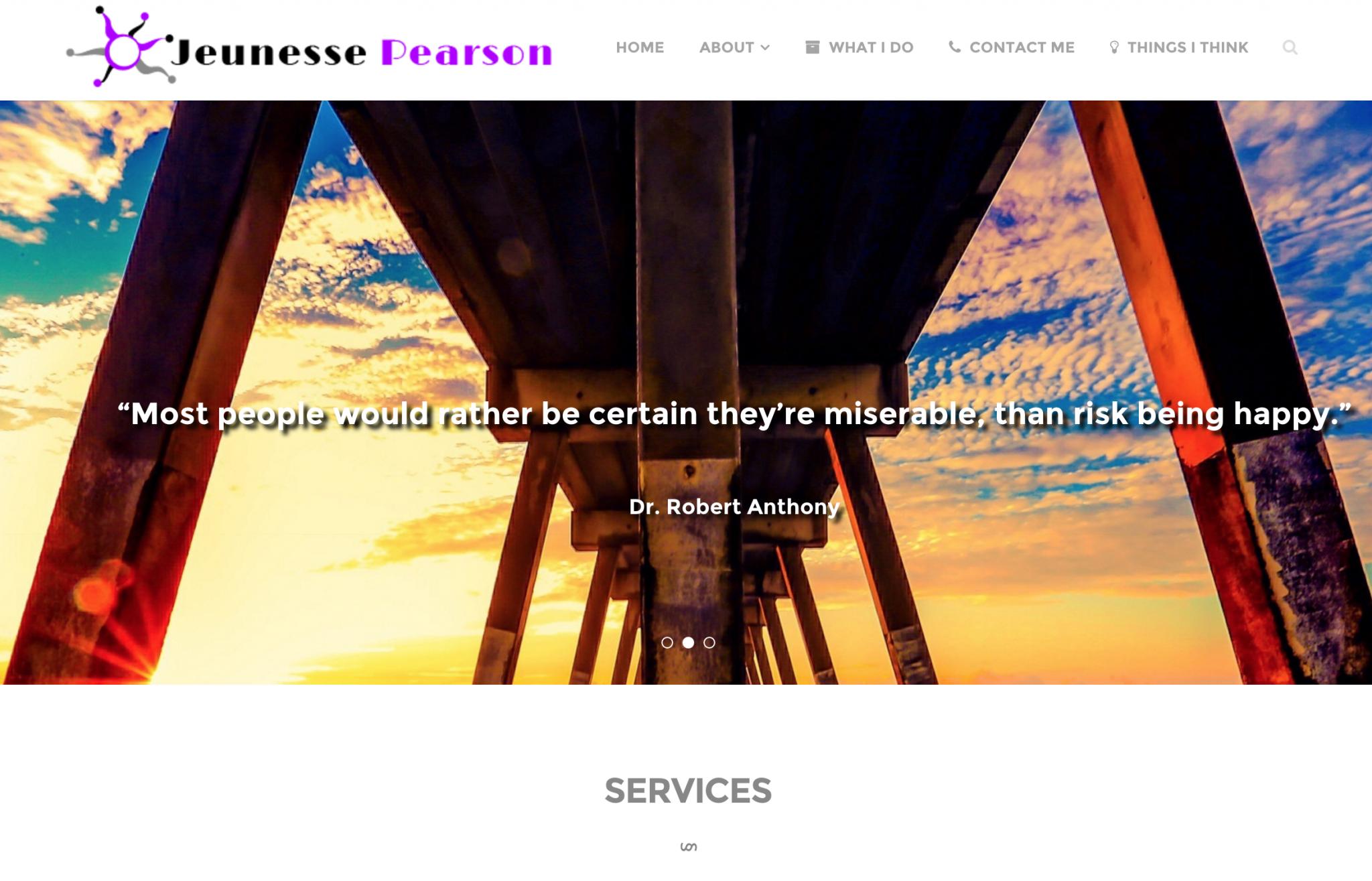 Jeunesse Pearson – Custom Site Design
