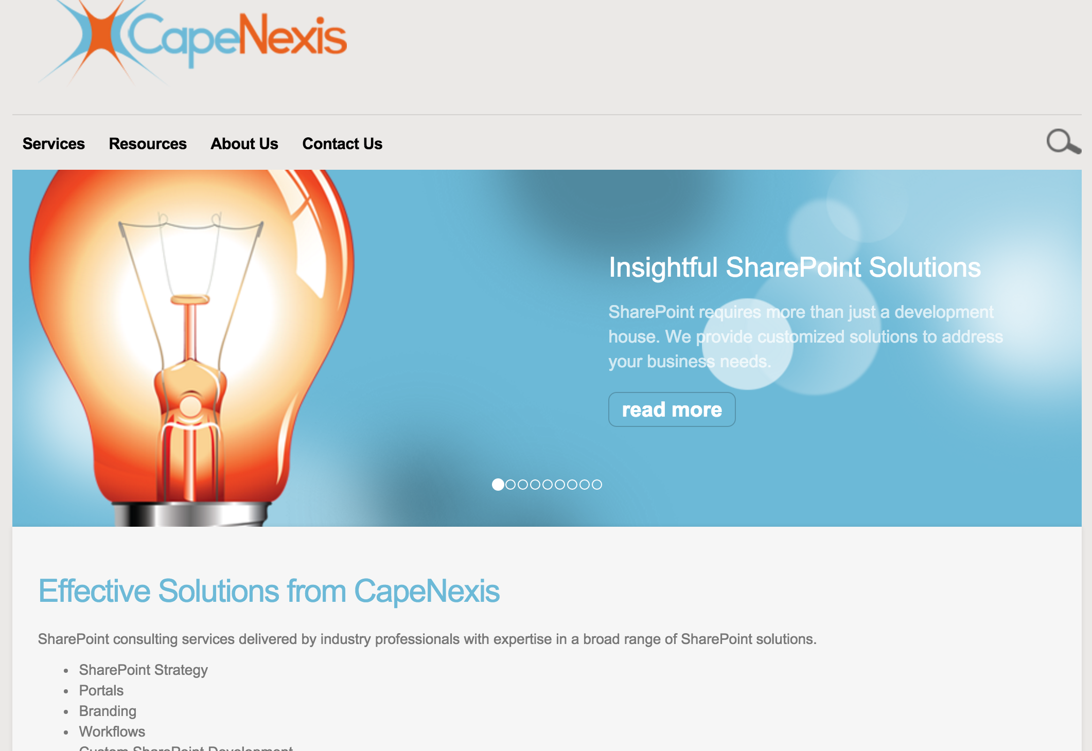 CapeNexis  – Corporate Web Design