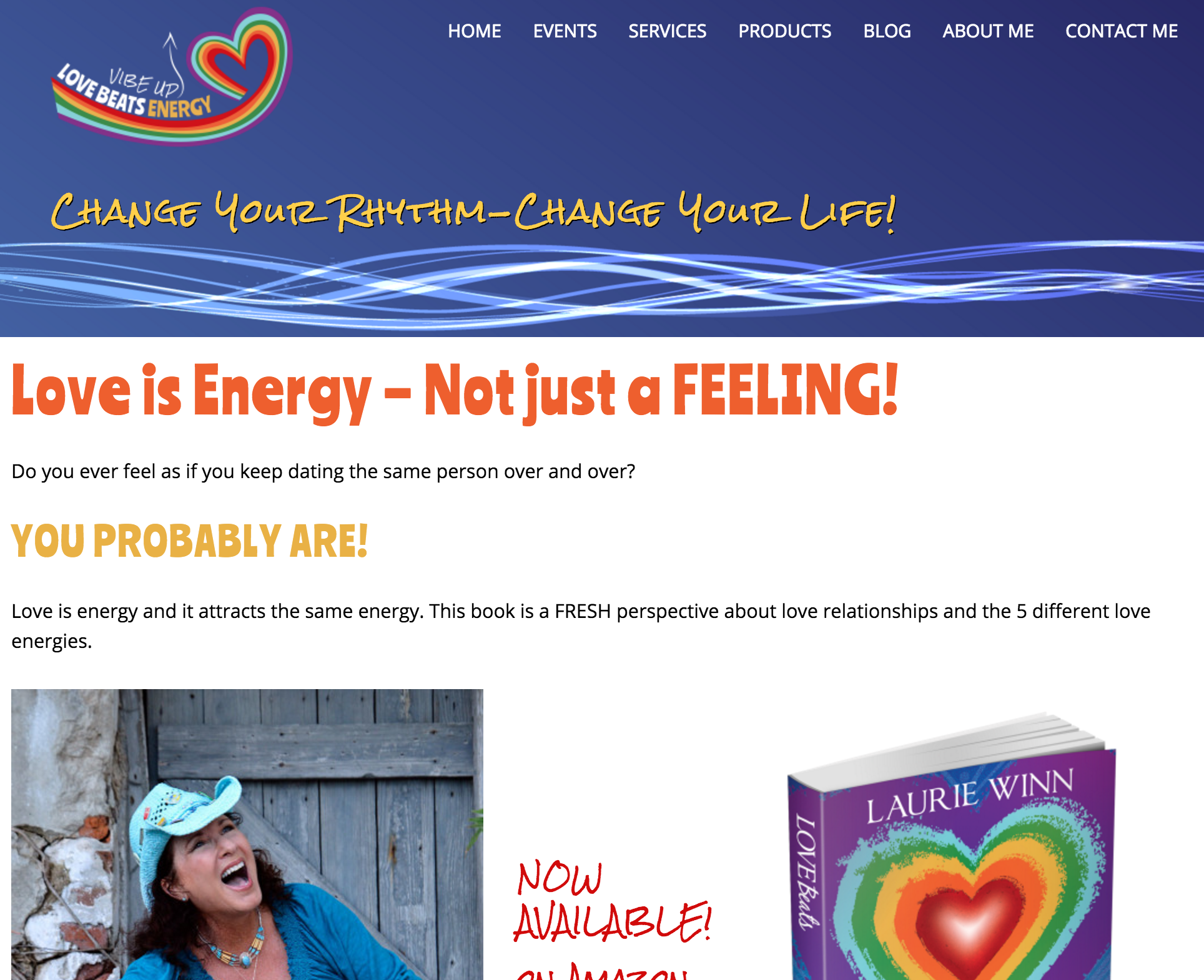 Love Beats Energy – Custom Site Design