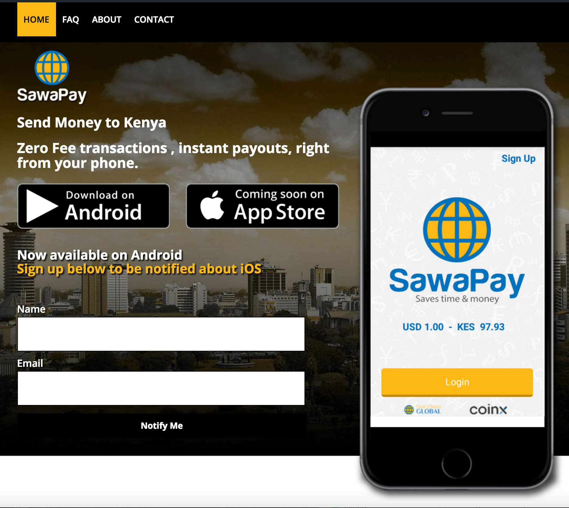 Sawa-Pay Custom Site Design